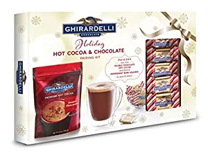 Ghirardelli Peppermint Hot Cocoa and Bark Squares Pairing Gift, 12.5 Ounce