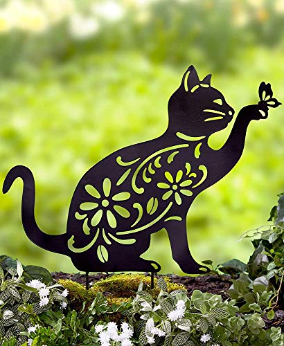 Ltd Commodities LLC The Lakeside Collection Animal Silhouette Stake - Cat (Stakes Garden Decor)