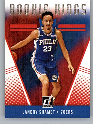 Amazon.com  2018-19 Donruss Rookie Kings Basketball Insert  11 Landry Shamet  Philadelphia 76ers Official NBA Rookie Card RC (made by Panini)   Collectibles ... dec2881e8