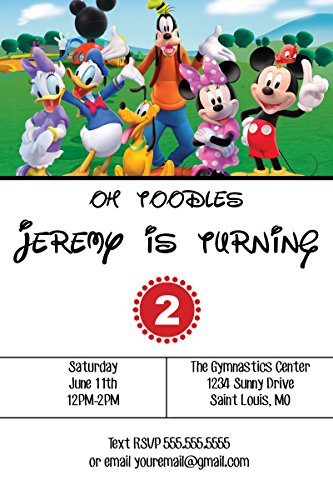 Customized - Mickey Mouse Clubhouse Birthday Party Invitation