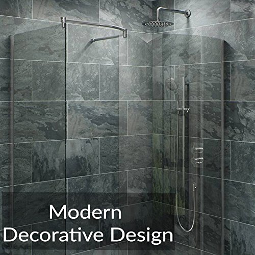 Rain Shower Head Stainless Steel – [NEW 2019] High Pressure 8 In Rainfall Bathroom Powerful Spray Shower Heads – Best High Flow Fixed Luxury Chrome SPA Showerhead with Adjustable Metal Swivel Ball by Colomore (Image #8)