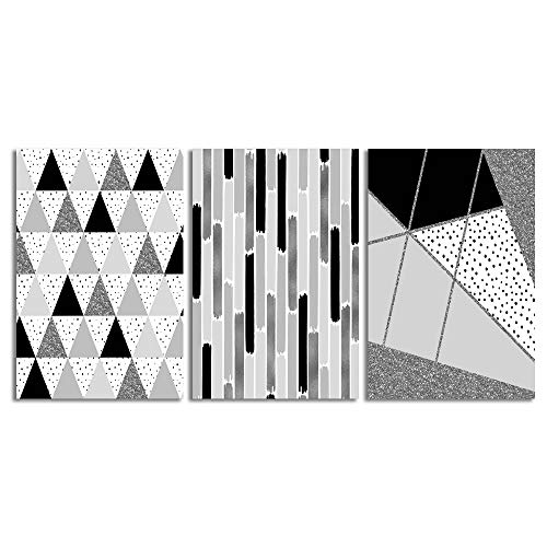 Abstract Geometric Home Artwork for Living Room Bedroom x 3 Panels