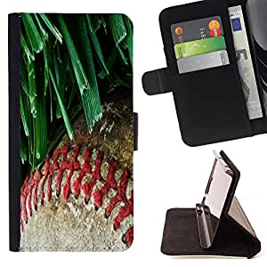 King Air - Premium PU Leather Wallet Case with Card Slots, Cash Compartment and Detachable Wrist Strap FOR Samsung Galaxy S5 V SM-G900 G9009 G9008V- MLB Baseball Sport USA