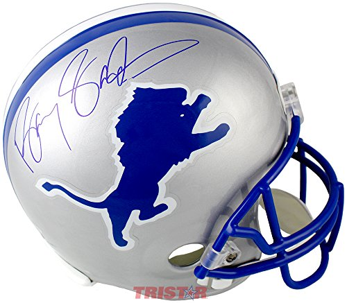 Barry Sanders Signed Autographed Detroit Lions Replica Full Size Helmet TRISTAR COA Barry Sanders Signed Lions Replica