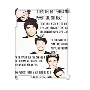 Custom New Case for Ipad 2,3,4 3D, One Direction Quotes Phone Case - HL-536712