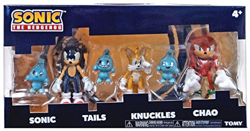 """Sonic Tomy the Hedgehog Tails Knuckles 3"""" Collector 3 Figure Pack with 3 Chao NE …"""