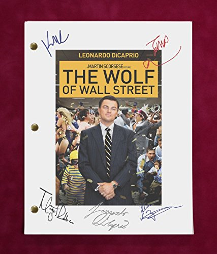 "WOLF OF WALL STREET MOVIE SCRIPT WITH REPRODUCTION SIGNATURES DiCaprio ""C3"""