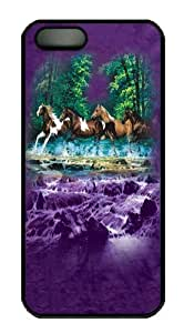 Spring Creek Run Horse PC Case Cover for iPhone 5 and iPhone 5s Black