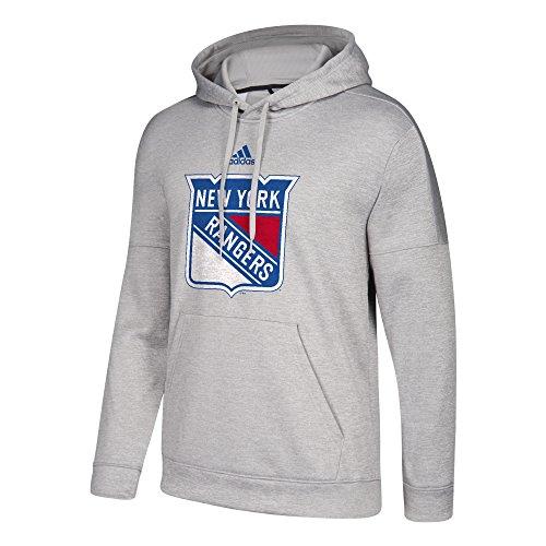 NHL New York Rangers Adult Primary Logo Stand Out Fleece Hood, Medium, Medium Grey Heather