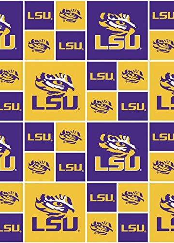 TIGERS BRAND NEW ALL SPORT LOGO 1  YARD 100/% COTTON LOUISANA STATE LSU