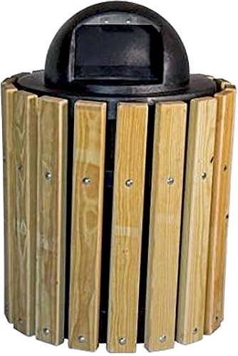 - Kay Park Recreation 132LR 32 gal Frame Only Trash Receptacle, Free Standing, Steel, Black