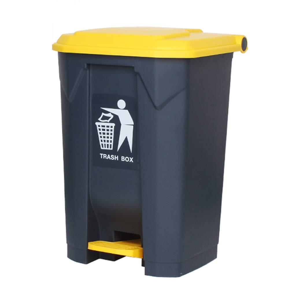 CSQ Plastic Trash Can, 30L/45L/68L/87L Pedal-Type Trash Can, Classroom Hotel Bedroom Living Room Kitchen Trash Can Indoor