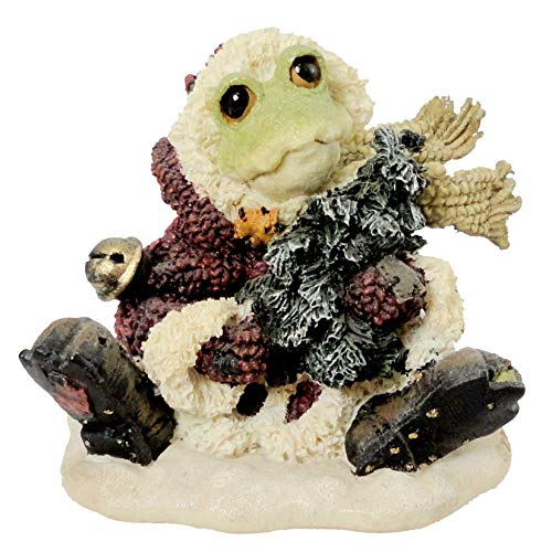 Boyds Bears Resin S C RIBBIT HOPPY CHRISTMAS Resin Wee Folkstone Frog 36750 RFB