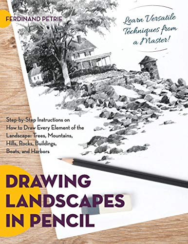 Drawing Landscapes in Pencil (Landscape Drawings For Beginners Step By Step)