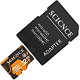 Micro SD Card 32GB, SCICNCE UHS-I Class 10 MicroSDHC Memory Card Ready for Phone, Cameras Tablet - TF Memory Adapter