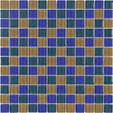 MTO0376 Modern Stacked Squares Blue Green Orange Glossy Glass Mosaic Tile