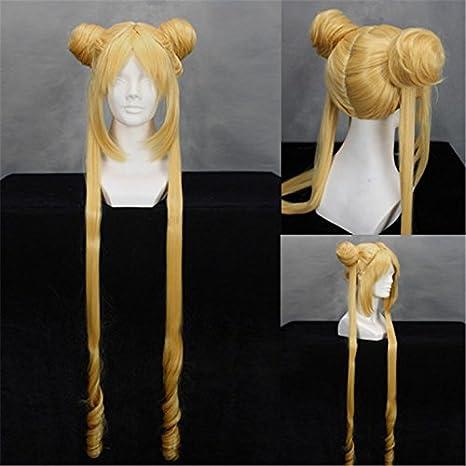 CoolChange peluca de Sailor Moon (Usagi Tsukino) de la serie Sailor Moon: Amazon.es: Juguetes y juegos