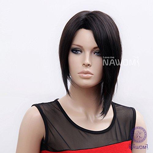 (WG-RIHANNA2-2) Female Short Hair Wig. Black Color.