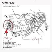 04 silverado driver side blend door actuator location