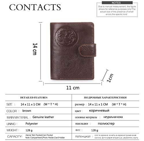 Couple color document Sac Multi En Couche Portefeuille Casual Porte De Passeport Niceamz function Pour Hommes 3 Première Homme 1 Cuir Rw6nT