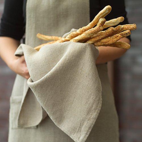 Set of 2 Natural Linen Tea Towels Lara