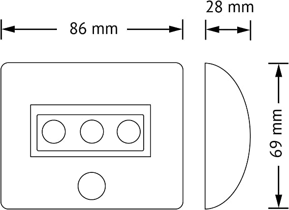 Osram Nightlux LED luminaria móvil E5, 0.3 W, blanco: Amazon.es ...