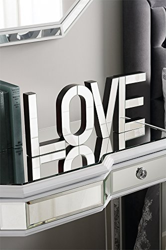 LOVE Large mirrored freestanding or wall decorative letters by My-Furniture (Mirrored Wall Letters)