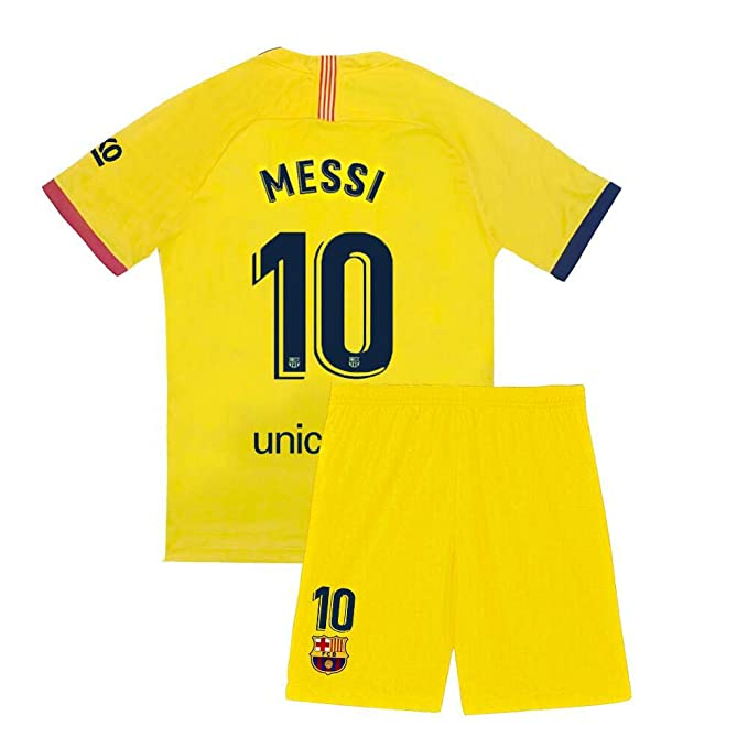 purchase cheap 5bcd8 ff80c Youth Messi Jersey 10 Kids Barcelona Soccer 2019-2020 Away Shorts Lionel
