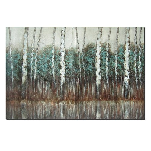 QINGYAZI Art Painting 24x36 Inch Oil Painting Hand Painting Modern Abstract Landscape Tree Canvas Wall Art Frameless Living Room Bedroom Home Decoration