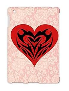 Tribal Heart Red TPU Tribal Love Tattoo Heart Poker Playing Card Romance For Ipad 3 Case