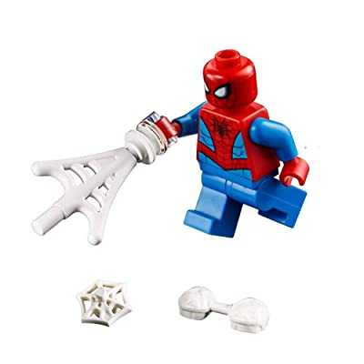 LEGO Marvel Super Heroes LOOSE Minifigure Spider-Man with Webs: Toys & Games