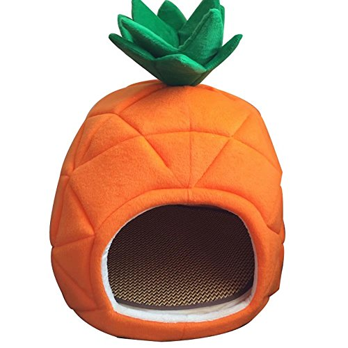Super Value Pineapple Shape Washable Pet House With Summer Sleeping Mat,Suitable For Dog Cat And Other Small Animals