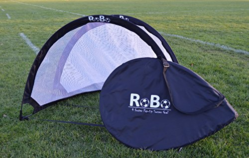 Robo 4 Footer Portable Training Soccer Goal Boxed Set (Two Goals & Bag) (Blue)