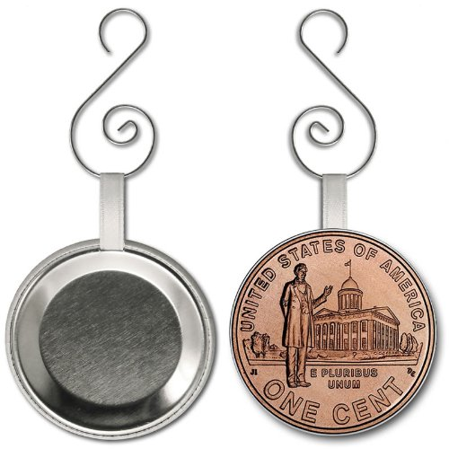 2009 Professional Life Lincoln Penny Image 2.25 inch Button Style Hanging Ornament