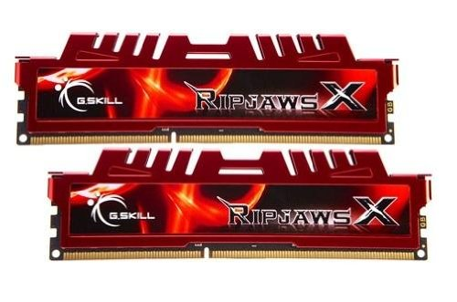 - G.SKILL Ripjaws X Series 8GB (2 x 4GB) Desktop Memory, 240-Pin DDR3 SDRAM, 1600 MHz, PC3 12800 (F3-12800CL9D-8GBXL)