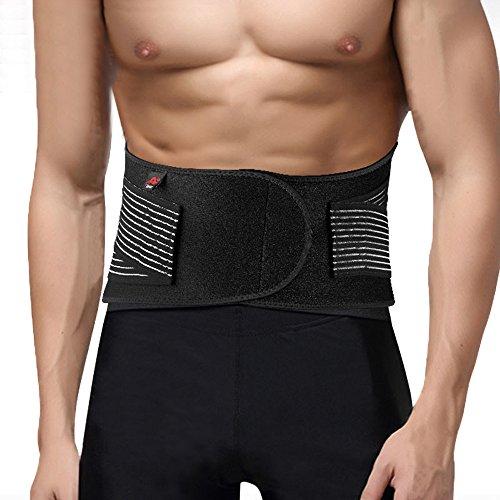 Happy Hours - Portable Velcro Elastic Waist Heat Radiating Lower Back Waist 6 Springs Lumbar Brace Belt Double Pull Strap Lower Massager Brace Fitness Belt Size L/XL/XXL, Size L 90cm/ 2.7 inch