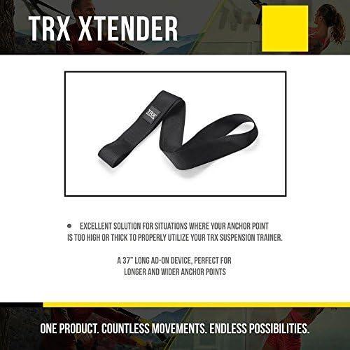 TRX Entrenamiento Extensor para una Mayor Longitud y Seguridad en Puntos de Apoyo elevados o Verticales