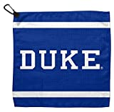 Duke Blue Devils Waffle Golf Towel with Small Carabiner Clip, 13 x 13 inches