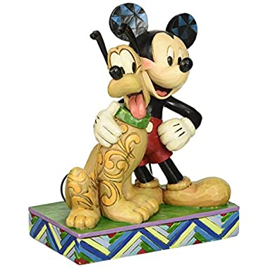 Jim Shore for Enesco Disney Traditions Mickey & Pluto Figurine, 6