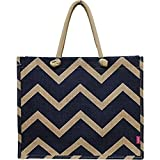 Chevron Print Juco Beach/Shopping Tote Bag For Sale