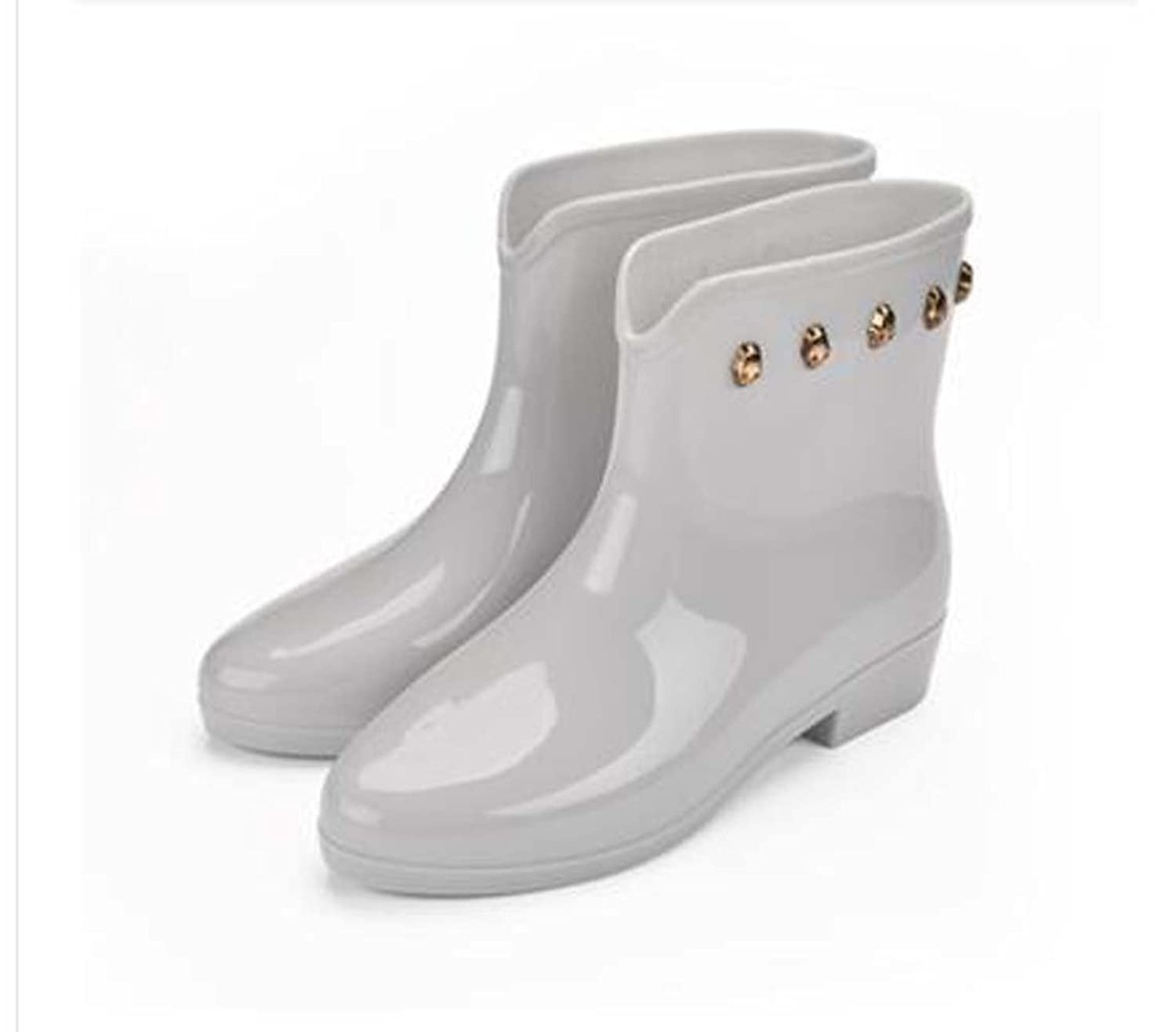 Latest Fashion New Solid Bow Mid Rain Bootie In Women Shoes