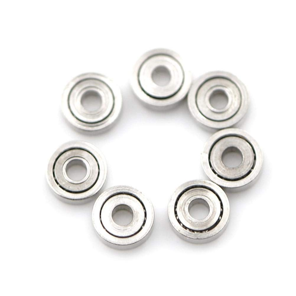PiniceCore 10pcs 681ZZ Miniatur-Mini-Kugellager Metall Offen Micro Lager 1x3x1mm