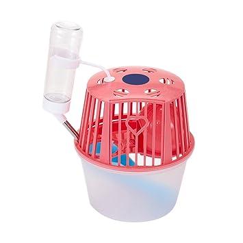 yunt Mini jaula de hámster casa de juego de dormir para pequeños animales con dispensador de