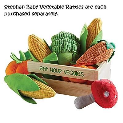 Stephan Baby Velour Plush Vegetable Rattle, Mushroom : Baby