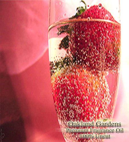- Strawberry Champagne Scented Fragrance Oil - Formulated to work with Reed Sticks & Diffuser - By Oakland Gardens (Strawberry Champagne - 16oz Bottle)
