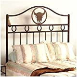 Frontier Wrought Iron Headboard Size: King, Metal Finish: Sand, Style: Cowboy