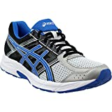 asics running shoes mens - ASICS Men's Gel-Contend 4 Running Shoe, Silver/Classic Blue/Black, 10.5 M US