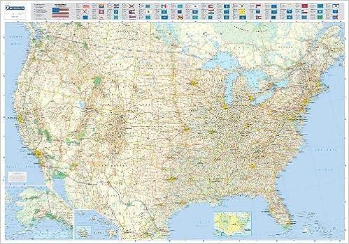 Karte Usa.Michelin Karte Usa Planokarte Plastifiziert Maps Wall