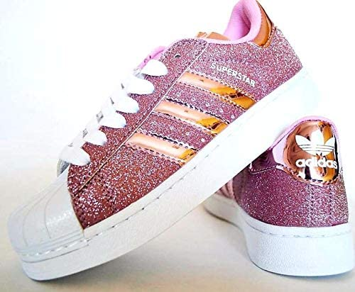 adidas pink glitter shoes