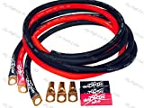 Sky High Oversized 4 Gauge AWG Big 3 Upgrade RED/BLACK Electrical Wiring Kit